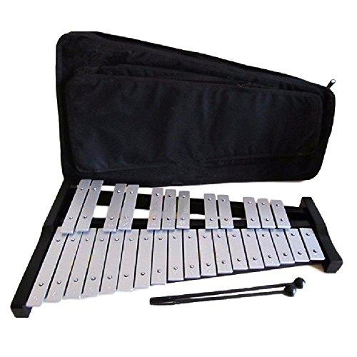 J54 折り畳み 卓上 鉄琴 30音 音楽 収納ケース付き (シルバー) ROZZERMANブランド