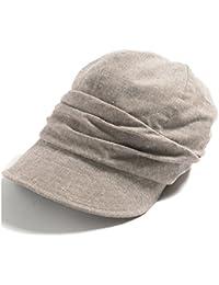 クイーンヘッド UVカット 帽子 シャイニングキャスケット レディース 大きいサイズ つば広 小顔 ハット 日よけ 紫外線カット