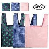 3個セット 買い物袋 折りたたみ式 エコバッグ コンビニバッグ 防水素材