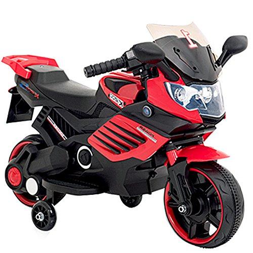 子供用 電動 乗用 バイク 061【赤】/ 乗用玩具 / 補...