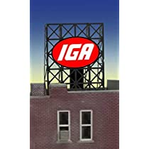 おもちゃ 33-8915 N & Z scale IGA billboard by Miller Signs [並行輸入品]