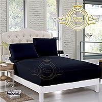 クラウンロイヤルホテルコレクション寝具の750スレッド数エジプトコットンフィットシートRVサイズ13インチ深いポケットホワイトソリッドエクスポート品質 King 76 ''x 80''