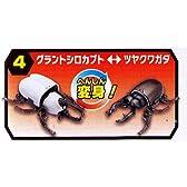 変身昆虫カブトクワガタ第2弾 【4.グラントシロカブト/ツヤクワガタ】(単品)