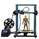 新機種」HICTOP 3Dプリンター Reprap Prusa i3 DIYキット未組立 最大印刷サイズ 300 * 300 * 400mm 高精度 アルミニウム plaフィラメント少量付属 3dp-20