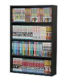 本棚 文庫本棚 S-60 幅60 奥行16 高さ90 木製 黒 本 漫画 コミック 本収納 4段 薄型 文庫本 棚 スリム ラック 収納 多目的ラック ロータイプ 収納 おしゃれ キッズ シンプル 書棚 子供部屋 カラーボックス S2 (ブラック)