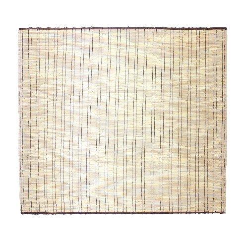 【すだれ よしず サンシェード ロールスクリーン】 黒丸竹 48本編み こだわり すだれ 176×157cm(B163)