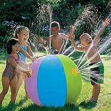 Kids Inflatable Ball Sprinkler Water Ball Play Fun Garden Beach Outdoor Toy