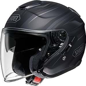 ショウエイ(SHOEI) バイクヘルメット ジェット J-CRUISE PASSE【パッセ】 TC-5 (BLACK/SILVER) L (59cm)