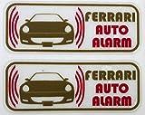 フェラーリ 612 スカリエッティ セキュリティ ステッカー fe006os - 580 円