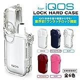 iQOSロックハードケース / アイコス プラスチック ハード ケース / ブラック ホワイト クリア ワインレッド ピンク (クリア)
