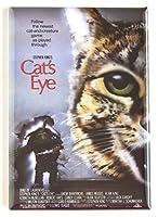 猫の目の映画ポスター冷蔵庫マグネット( 2x 3インチ)