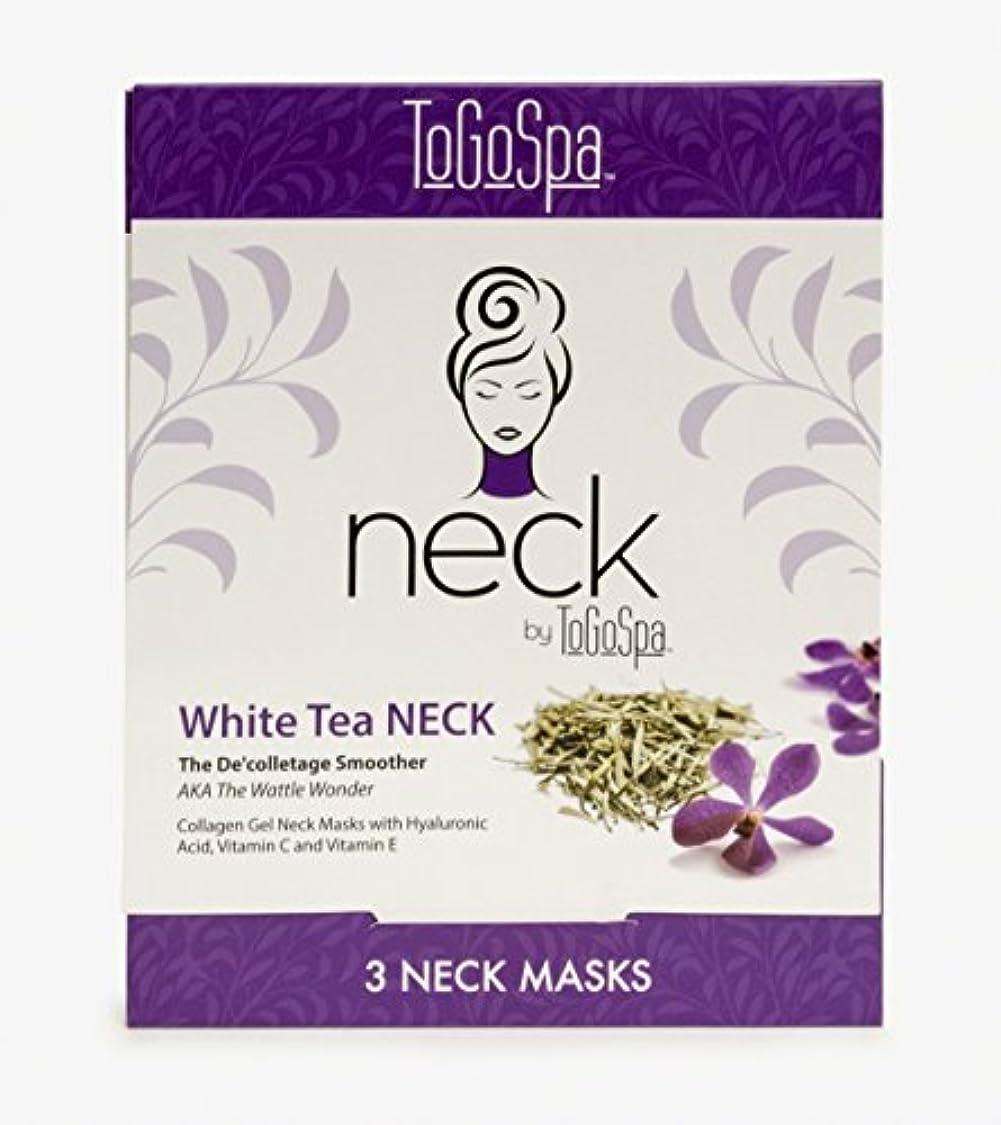 チャップ健康葉を集めるWhite Tea Neck Collagen Gel Mask