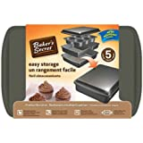 Baker's Secret 1110526 5-Piece Easy Store Bakeware Set