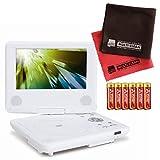 【セット】EAST 乾電池式7インチポータブルDVDプレーヤー DVD-P770&単3電池&マイクロファイバークロス