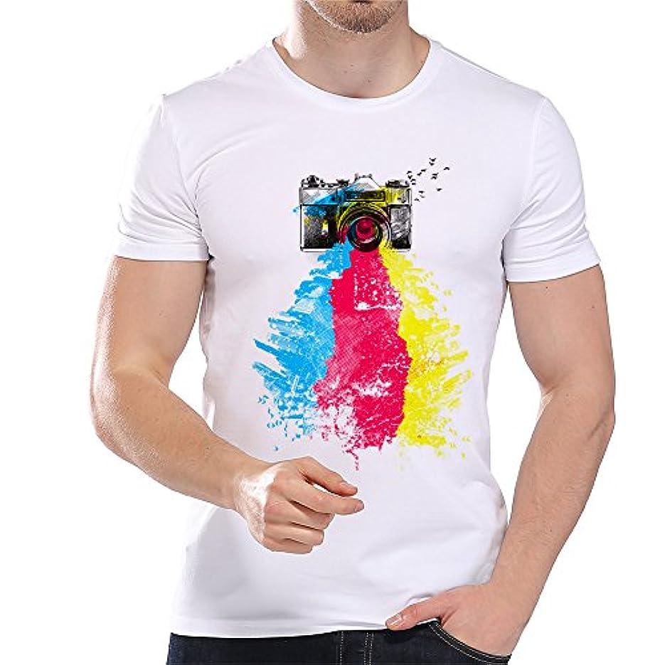 六ウォルターカニンガム大学院Racazing 春夏 Tシャツ 大きいサイズ メンズ 可愛い 多色 Tシャツ アンダーシャツ 漫画 ねこ メンズ プリント 吸汗速乾 薄手 ブラウス 快適 半袖 トップス ファッション 通勤 通学 プリント T-shirt for men