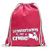 スクーターチューニングは犯罪ではありません!デザイン1 KIWISTAR - Scooter tuning is not a crime! Design 1 ジムバッグ楽しいバックパックスポーツバッグGymsackコットンひも付き