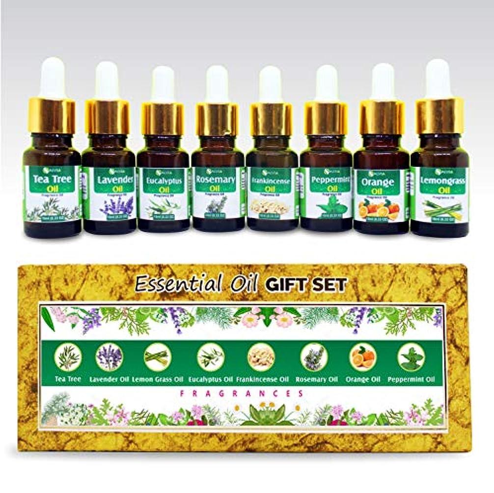 台無しに放射性決済Aromatherapy Fragrance Oils 100% Natural Therapeutic Essential Oils 10ml each (Tea Tree, Lavender, Eucalyptus,...