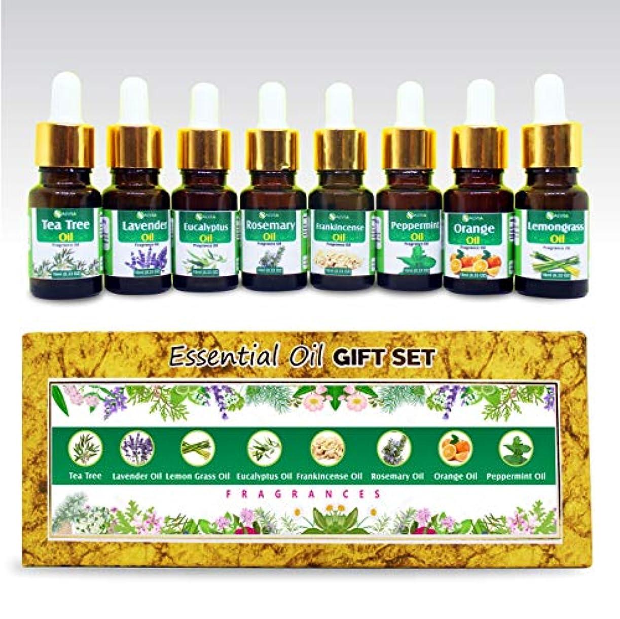 転用リンストラフAromatherapy Fragrance Oils 100% Natural Therapeutic Essential Oils 10ml each (Tea Tree, Lavender, Eucalyptus,...