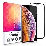 【2枚セット】 iPhone XS ガラスフイルム iPhone X 強化ガラス 業界最高硬度9H / 高透過率/防塵/耐指紋/自動吸着/気泡ゼロ アイフォンXS ガラスフィルム アイフォンX 全面保護 強化ガラス液晶保護フイルム ー 5.8インチ対応