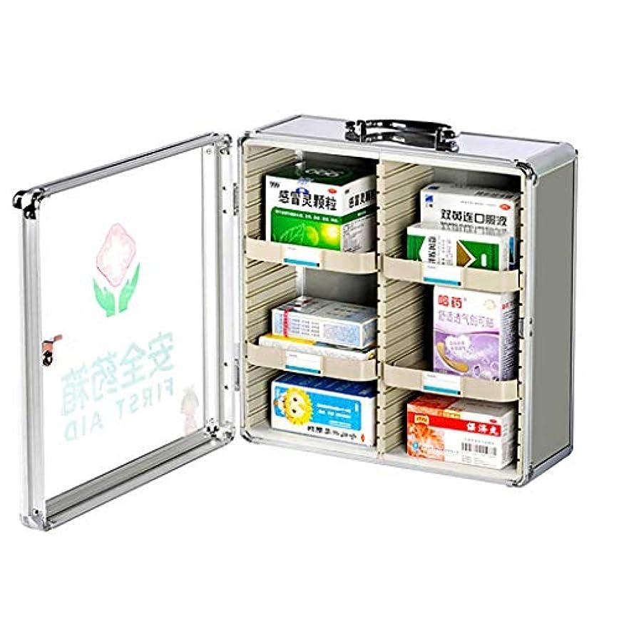 連想サスペンド不快な壁掛け型医療用収納キット、ロック式、薬収納ボックスアルミ合金製医療用ボックス
