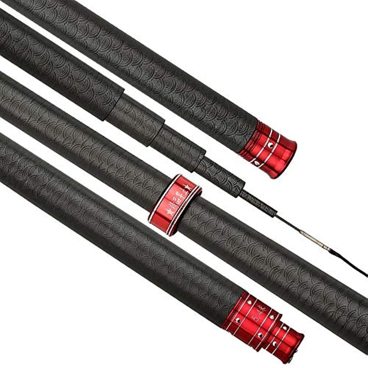 調整するコショウジーンズHYBJP 釣り竿 釣りロッド 初心者 釣り 軽量 伸縮可能 高級 フィッシングロッド 操作簡単 釣り具 アウトドア (Color : ブラック, Size : 4.5)