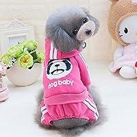 小型犬ソフトフリースペットの犬服ラブリー服コスチューム服子犬の衣装コートパーカーXS-XXL冬犬服:ホットピンク、XS、米国