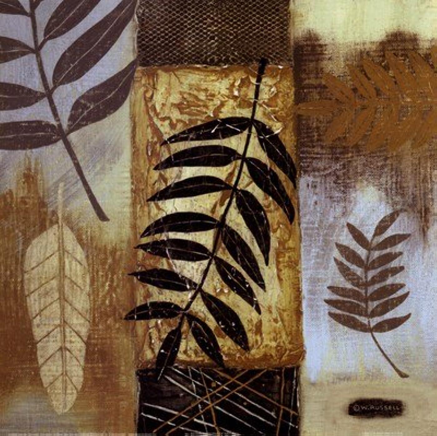 完全に乾くニッケルネコ自然のパターンI by Wendy Russell – 12 x 12インチ – アートプリントポスター 12  x 12  Inch LE_255654