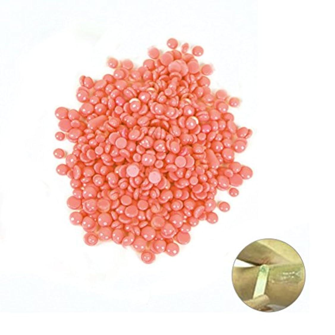 気配りのある期間シェトランド諸島ROSENICE 苦い脱毛脱毛剤パールハードワックスビーズ100g(ピンク)