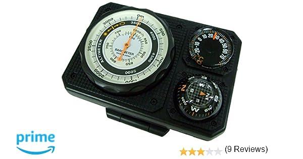 f5ab258453 Amazon | エバートラスト 高度計 アナログ コンパス 気圧計付き ブラック NO1230 | evertrust(エバートラスト) | 高度計