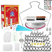 Cake Decorating Supplies - (SPECIAL CAKE DECORATION BUNDLE) With 48 PCS Icing Tips, Cake Rotating Turntable and More Accessories Create Beautiful Cakes With This Complete Cake Set