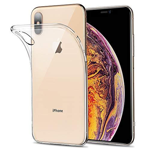 kutolo iPhone XS ケース iPhone X ケース iPhone XS カバー TPU シリコン ケース 耐衝撃カバー 超薄型Qi充電対応 擦り傷防止 軽量 ソフト クリア全透明 (iPhone XS/X ケース)