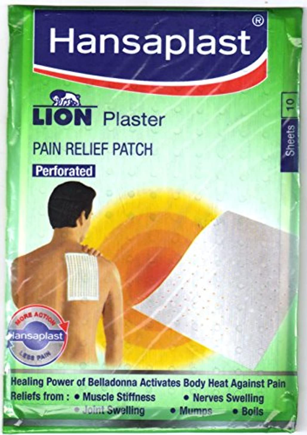 全体パワーセル手荷物Hansaplast Lion plaster (Belladonna) 3 pack of 30 Sheets Pain Relief Patch