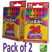 パックの2クレヨン24色学校品質合計48のクレヨンNon Toxic