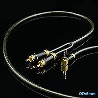 Gotor® 3.5mm ステレオミニプラグ to 2RCA(赤/白) 変換 ステレオオーディオケーブル RCAケーブル スマホ タブレット PC DVD TV 等に対応 アダプター (8M)