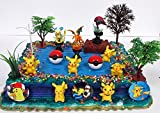 POKEMON GO Birthday Cake Topper Set Featuring Pokemon Characters Poke Balls and Other Decorative Accessories [並行輸入品] ()