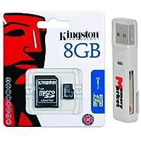 Kingston 8GB MicroSD HC MicroSDHCメモリカード8GB sdc4/ 8gb withアダプタとUSB 2.0MemoryMarketデュアルスロットMicroSD & SDメモリカードリーダー