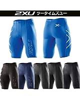 2XU(ツー・タイムズ・ユー) メンズ コンプレッション ショーツ(ショートタイツ) ブラック/シルバーロゴ(BLK/BLK) S