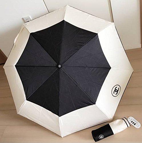 CHANEL (シャネル) ワンタッチ式傘 (雨・日傘兼用)  箱付き [並行輸入品]