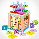 立体パズル 積み木 型はめ  認知 指先訓練 形合わせ 図形認識 幾何認識 知育玩具 教育おもちゃ 幼児教育 レゼント 入園祝い 3歳以上の女の子 男の子