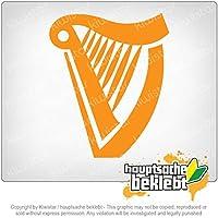 ハープ harp 11cm x 9cm 15色 - ネオン+クロム! ステッカービニールオートバイ