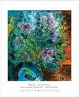 ポスター マルク シャガール Enchantment Vesperal 額装品 アルミ製ハイグレードフレーム(ホワイト)