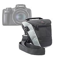 DURAGADGETプレミアム品質耐久性超–ポータブルカメラCarry Case for Canon EOS Rebelと範囲PowerShot sx50HS含む