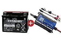 バイクバッテリー充電器+YTX4L-BSセット■■GSユアサ(YUASA)【長寿命・保証書付】【日本語説明書付き】