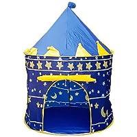 子供用 プレイテント ポータブル 折りたたみ ブルー プレイテント 子供用 子供用 キャッスル キュービー プレイハウス ブルー