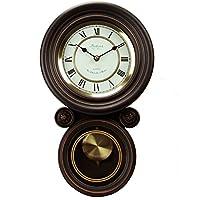 Bedford Clock Collection コンテンポラリー 丸型壁掛け時計 振り子付き