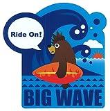 東洋マーク BIG WAVE (ビッグウエーブ) ステッカー サイズ:11.9㎝×11.5㎝ R-958