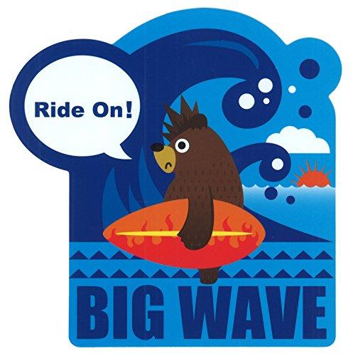 東洋マーク BIG WAVE (ビッグウエーブ) ステッカー サイズ:11.9�×11.5� R-958