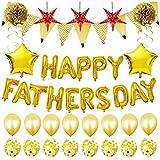 BESTOYARD 16インチ 父の日 バルーン パーティーバルーンセット 風船 Happy Father's Day 飾り付け(ゴールデン)