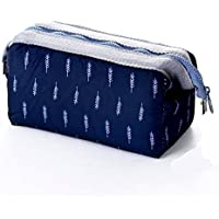 Makeup Bag | Toiletry Bag | Cosmetic Bag | Travel Kit Bag for Women Girl gift Portable Organizer Pouch case waterproof Bathroom Storage Beauty Navy Blue Bag for Vacation