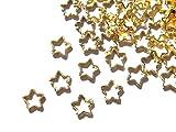 【jewel】ゴールド 立体メタルパーツ 10個入り スター 型 (星) 直径5mm 厚み1.3mm 手芸 材料 レジン ネイルアート パーツ 素材